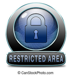 restricted area - access password protected restricted area...