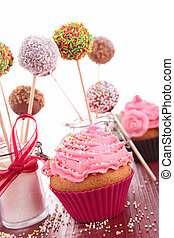 cupcake and cake pops