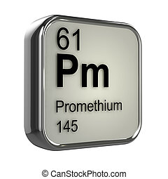 3d Promethium element - 3d render of Promethium element...