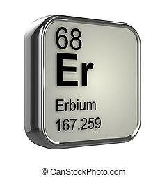 3d Erbium element - 3d render of Erbium element design
