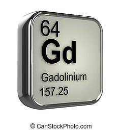 3d Gadolinium element - 3d render of gadolinium element...