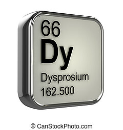 3d Dysprosium element - 3d render of Dysprosium element...