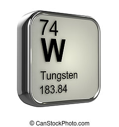 3d Tungsten element - 3d render of Tungsten element design