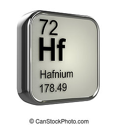 3d Hafnium element - 3d render of Hafnium element design
