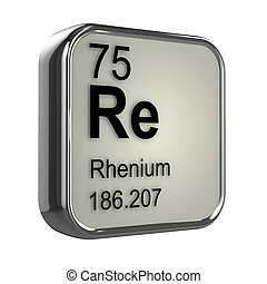 3d Rhenium element - 3d render of Rhenium element design
