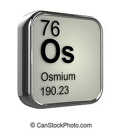 3d Osmium element - 3d render of Osmium element design