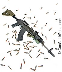 AK-47 - A tactical AK-47 is ready for special operation use.