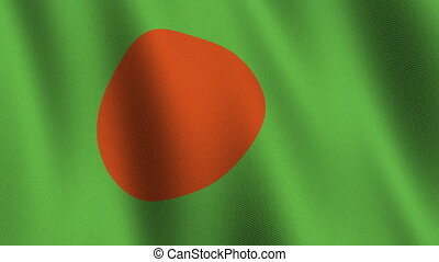 Flag of Bangladesh, seamless loop - Flag of Bangladesh...