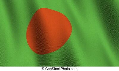 Flag of Bangladesh, seamless loop - Flag of Bangladesh...