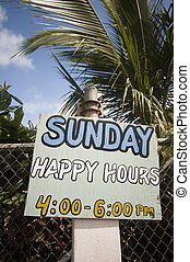 happy hour sign corn island nicaragua - happy hour sign in...