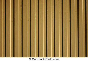 Clapboard painted fence panel - A sunlit clapboard wood...