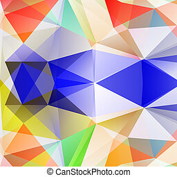 Triangle background. Colorfull polygons. Abstract background...