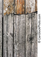 Old Knotted Rotten Floorboards - Very old, weathered, rotten...