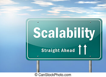 """Highway Signpost """"Scalability"""""""