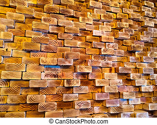 Abstract Wooden Wall Design Element