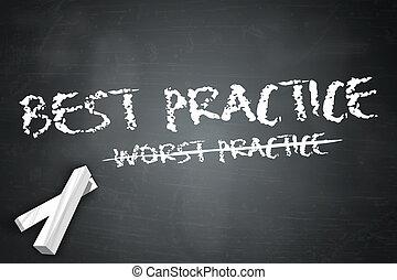 """Blackboard """"Best Practice / Worst Practice"""""""
