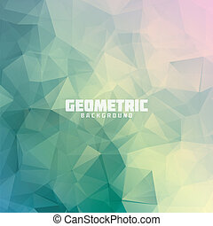 geométrico, triángulo, pastel, coloreado, V