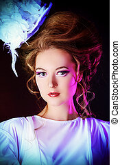 heroine of the novel - Beautiful fashion model in the...