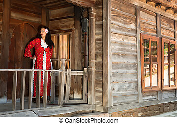 Traditional dress - Woman in bulgarian folklore dress...