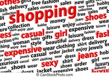 Shopping Spree Word Cloud Vector Illustration