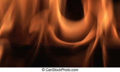 Close up of Flame - Fire, close up of flame burning