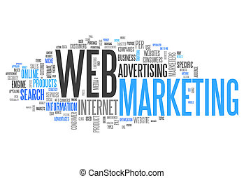 Word Cloud quot;Web Marketingquot; - Word Cloud Web...