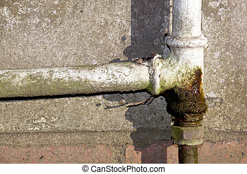 Rusted and Leaking Household Water Pipe - rusted and leaking...