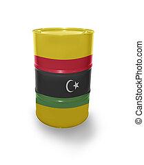 Barrel with Libyan flag