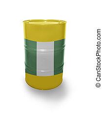 Barrel with Nigerian flag