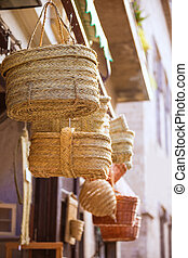 Valencia traditional esparto crafts near Mercado Central -...