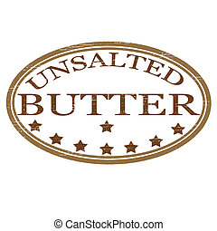 Butter - Stamp with word butter inside, vector illustration