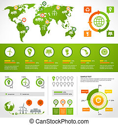 Energy infographics layout template - Energy infographics...