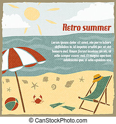 Summer vacation background retro - Summer vacation...