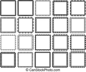 square frames - set of decorative square frames - design...