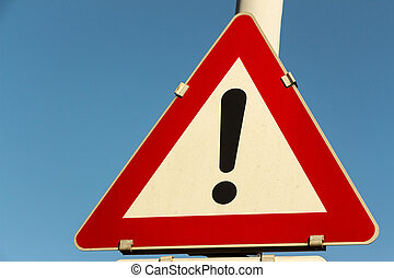 particular risk - a traffic sign warning against particular...