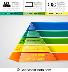 Pyramid 3d infographics - Abstract 3d pyramid infographics...