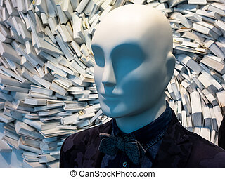 many books in the chaos - many books are completely messed...