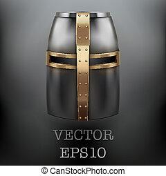 Crusader Knight's Helmet Vector Background - Crusader...
