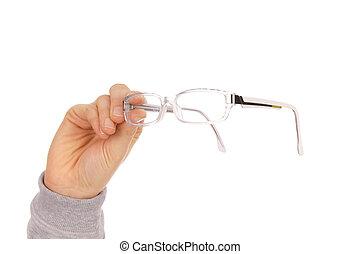 glasses - Hand holding glasses