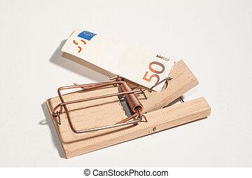Souricière, 50-Euro-Note