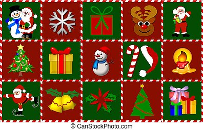 christmas symbols collage
