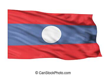 Laos Flag.