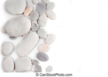 white pebble stone frame border background