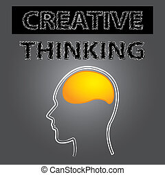 smart creative thinking brain