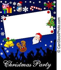 christmas party placard card