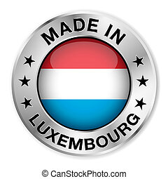 Made In Luxembourg Silver Badge - Made in Luxembourg silver...
