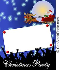 merry christmas card background placard blue