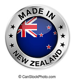 Made In New Zealand - Made in New Zealand silver badge and...