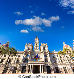 Valencia Ayuntamiento city town hall building Spain -...