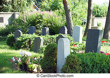 Cemetery and grave stones
